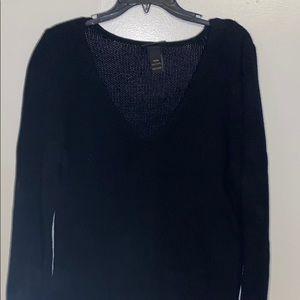Lane Bryant   Black Thick V Neck Sweater